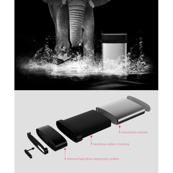 外付けHDD Silicon Power SiliconPower Armor A85 4TB 2.5インチ ポータブルハードディスク USB3.1 IP68対応 防塵・防水・耐衝撃 ネコポス不可|ec-kitcut|02
