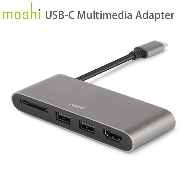 ドッキングステーション moshi エヴォ USB-C Multimedia Adapter Titanium Gray mo-uscmmd-gy ネコポス送料無料|ec-kitcut