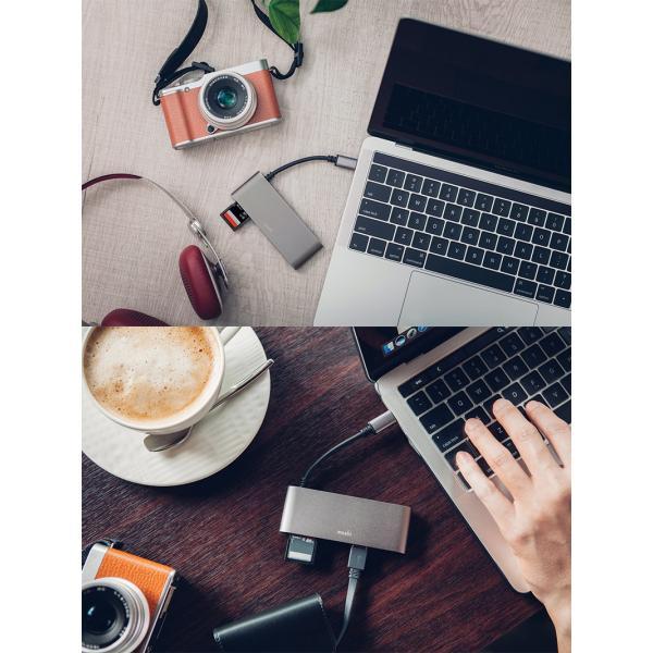 ドッキングステーション moshi エヴォ USB-C Multimedia Adapter Titanium Gray mo-uscmmd-gy ネコポス送料無料|ec-kitcut|02