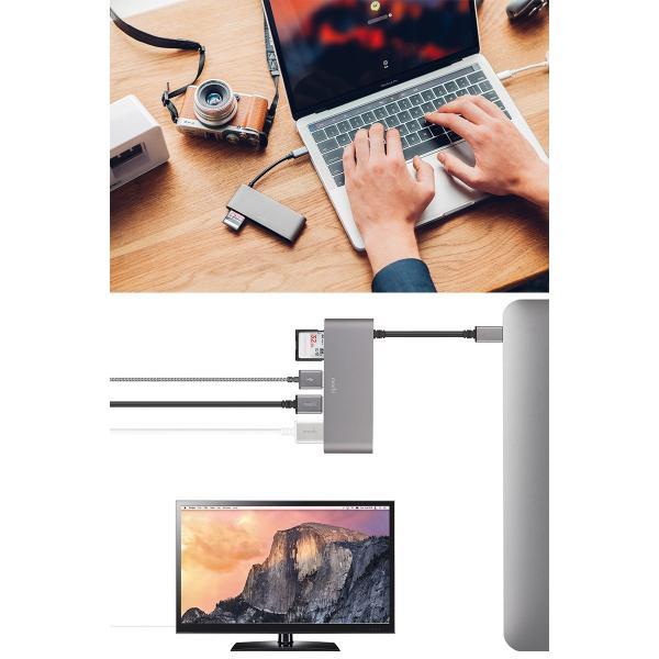 ドッキングステーション moshi エヴォ USB-C Multimedia Adapter Titanium Gray mo-uscmmd-gy ネコポス送料無料|ec-kitcut|03