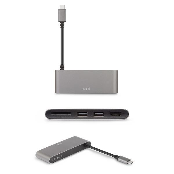 ドッキングステーション moshi エヴォ USB-C Multimedia Adapter Titanium Gray mo-uscmmd-gy ネコポス送料無料|ec-kitcut|04