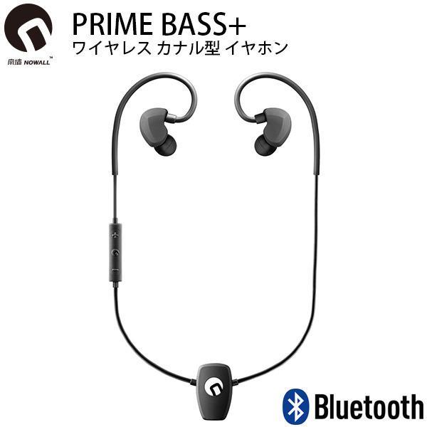 ワイヤレス イヤホン NOWALL ノーウォール PRIME BASS+ Bluetooth ワイヤレス カナル型 イヤホン NW-PR-B ネコポス不可|ec-kitcut