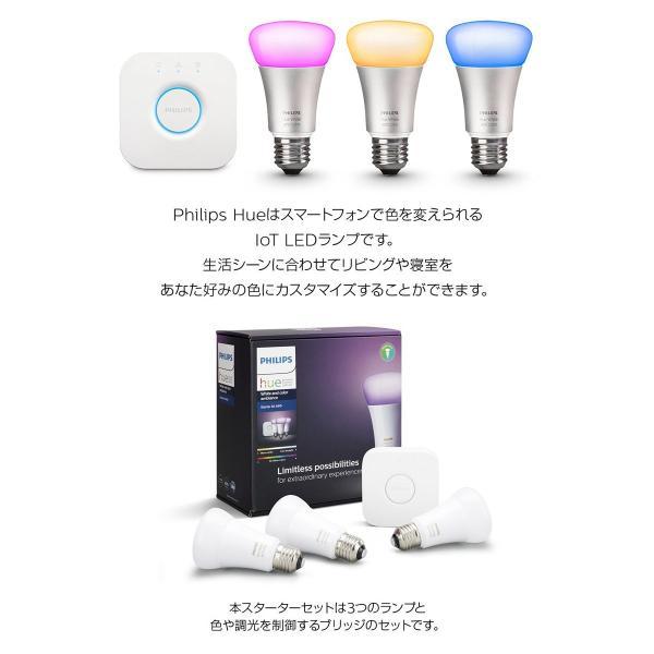 スマートLED照明 ヒュー IoT PHILIPS フィリップス Hue スターターセット v3 Philips Hue Starter set v3 929001367901 ネコポス不可 ec-kitcut 03