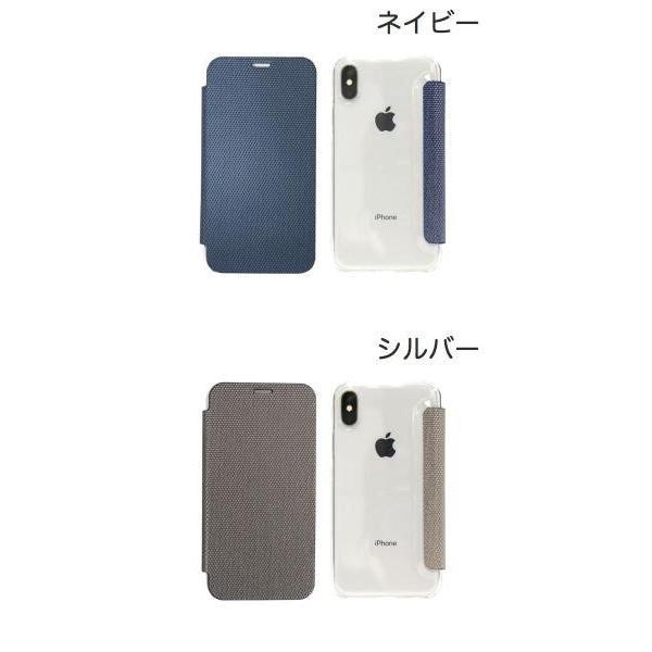 ZENUS iPhone X 背面クリア手帳型ケース Metallic ゼヌス ネコポス可|ec-kitcut|02