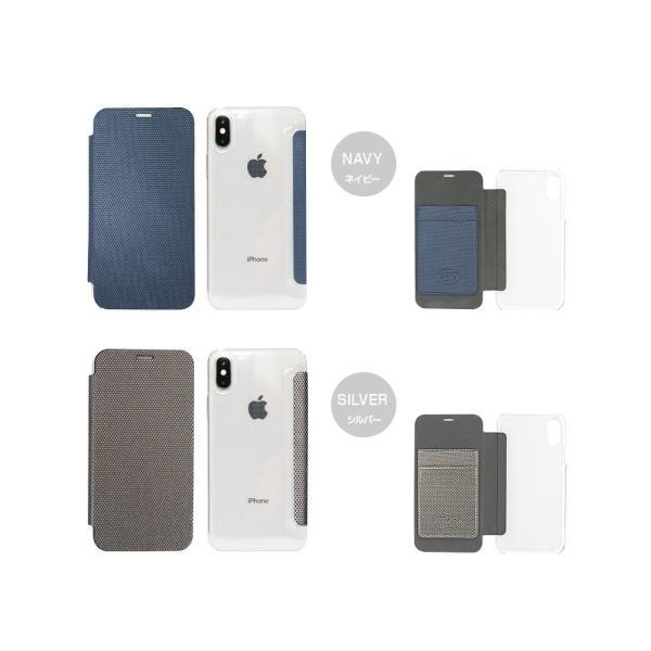 ZENUS iPhone X 背面クリア手帳型ケース Metallic ゼヌス ネコポス可|ec-kitcut|08
