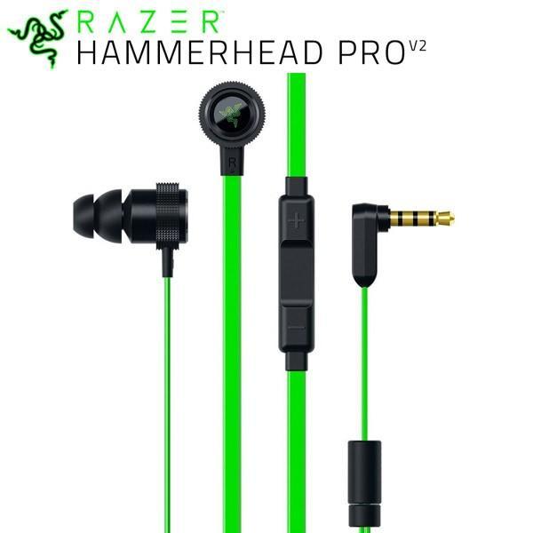 Razer レーザー Hammerhead Pro V2 カナル型 マイク付き ゲーミングイヤホン RZ04-01730100-R3A1
