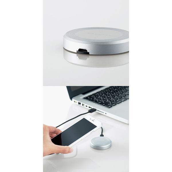 ワイヤレス充電器 iPhone X iPhone 8 エレコム Qi規格対応ワイヤレス充電器 5W 卓上タイプ ネコポス送料無料|ec-kitcut|03