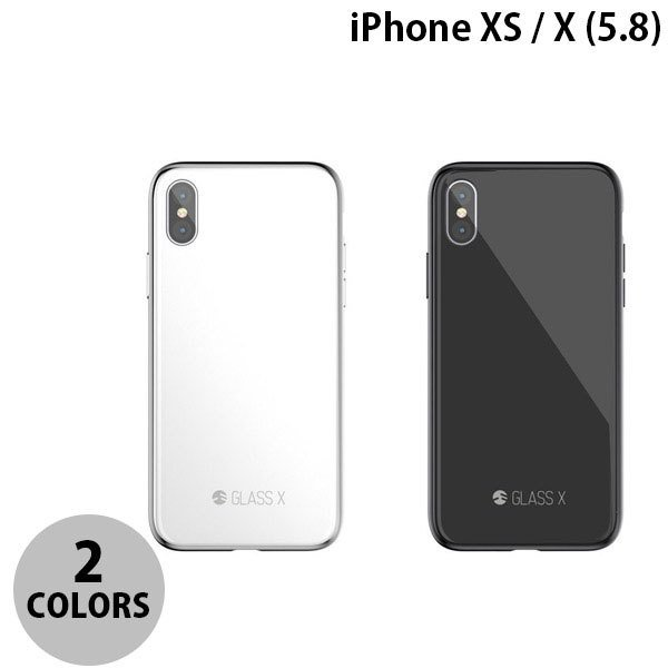 iPhoneXS / iPhoneX ケース SwitchEasy iPhone XS / X GLASS X ガラスxPCxTPUハイブリッドケース スイッチイージー ネコポス送料無料|ec-kitcut
