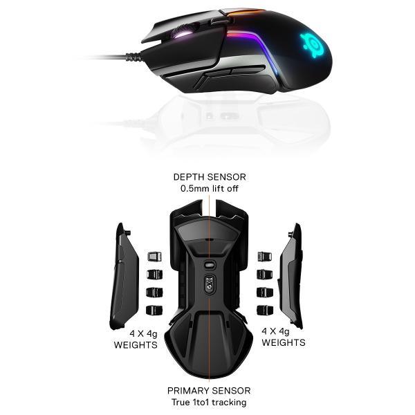 ゲーミングマウス SteelSeries スティールシリーズ Rival 600 光学式 ゲーミングマウス 62446 ネコポス不可|ec-kitcut|02