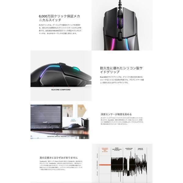 ゲーミングマウス SteelSeries スティールシリーズ Rival 600 光学式 ゲーミングマウス 62446 ネコポス不可|ec-kitcut|04