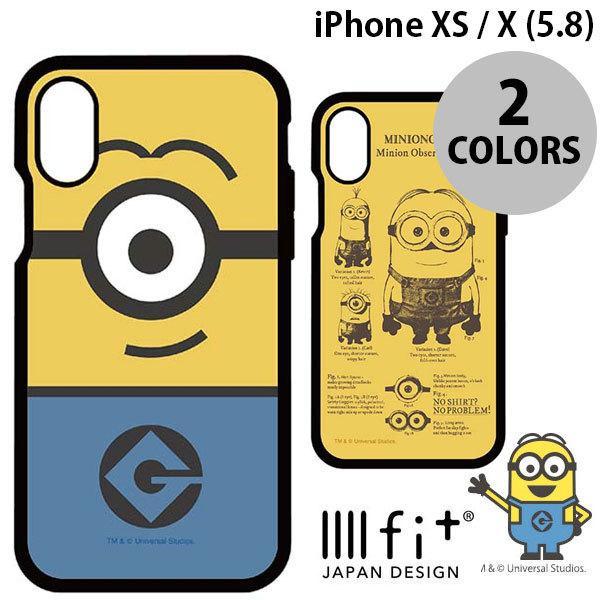iPhoneXS / iPhoneX ケース gourmandise iPhone XS / X IIIIfi+ イーフィット ミニオンズ 怪盗グルーシリーズ グルマンディーズ ネコポス送料無料 ec-kitcut