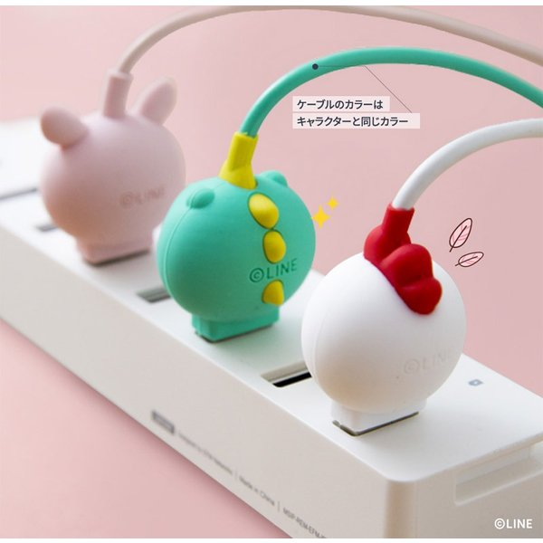 USB-C Lightningケーブル LINE FRIENDS USB Type-C Cable JUNGLE 1m ラインフレンズ ネコポス不可 ec-kitcut 05