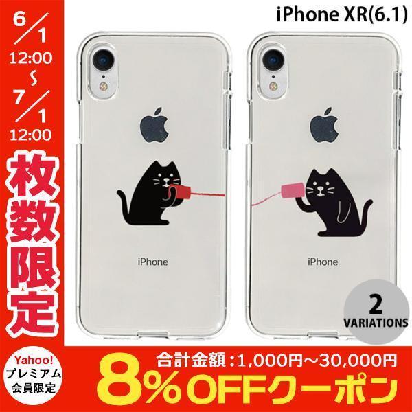 iPhoneXR ケース Dparks iPhone XR ソフトクリアケース 糸電話  ディーパークス ネコポス不可|ec-kitcut