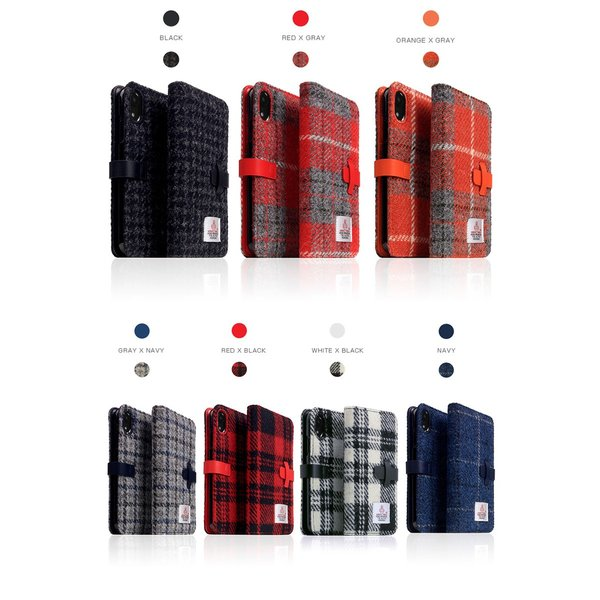 iPhoneXR ケース SLG Design iPhone XR Harris Tweed Diary  エスエルジー デザイン ネコポス不可|ec-kitcut|08