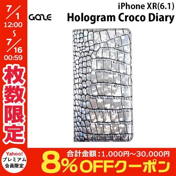 iPhoneXR ケース GAZE ゲイズ iPhone XR Hologram Croco Diary GZ13487i61 ネコポス可|ec-kitcut