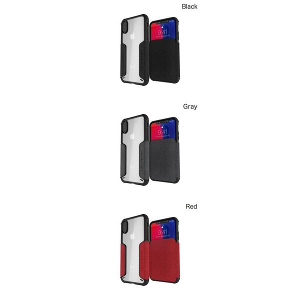 iPhoneXS / iPhoneX ケース GHOSTEK iPhone XS / X Exec 3 カードスロット付きケース ゴーステック ネコポス可|ec-kitcut|02
