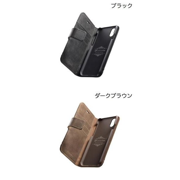 iPhoneXR ケース cellularline iPhone XR Supreme 本革手帳型ケース  セルラーライン ネコポス可 ec-kitcut 02