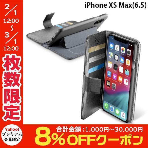 iPhoneXSMax ケース cellularline セルラーライン iPhone XS Max Book Agenda スタンド付手帳型ケース BOOKAGENDAIPHX65K ネコポス送料無料|ec-kitcut