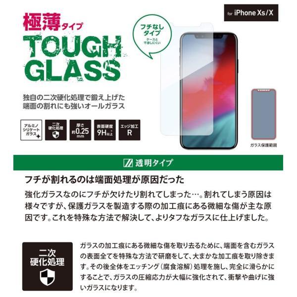 iPhone 11 Pro / XS / X 保護フィルム Deff ディーフ iPhone 11 Pro / XS / X TOUGH GLASS 通常 0.25mm DG-IP18SG2F ネコポス送料無料|ec-kitcut|02