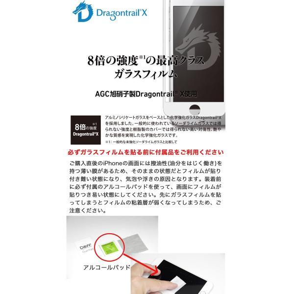 iPhone 11 / XR 保護フィルム Deff ディーフ iPhone 11 / XR TOUGH GLASS Dragontrail ブラック 通常 0.25mm DG-IP18MG2DFBK ネコポス送料無料 ec-kitcut 03