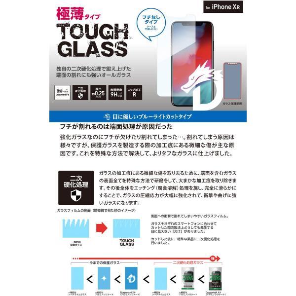 iPhone 11 / XR 保護フィルム Deff ディーフ iPhone 11 / XR TOUGH GLASS Dragontrail ブルーライトカット 0.25mm DG-IP18MB2DF ネコポス送料無料|ec-kitcut|02