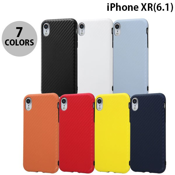 iPhoneXR ケース Ray Out iPhone XR TPU 耐衝撃Light Carbon  レイアウト ネコポス可 ec-kitcut