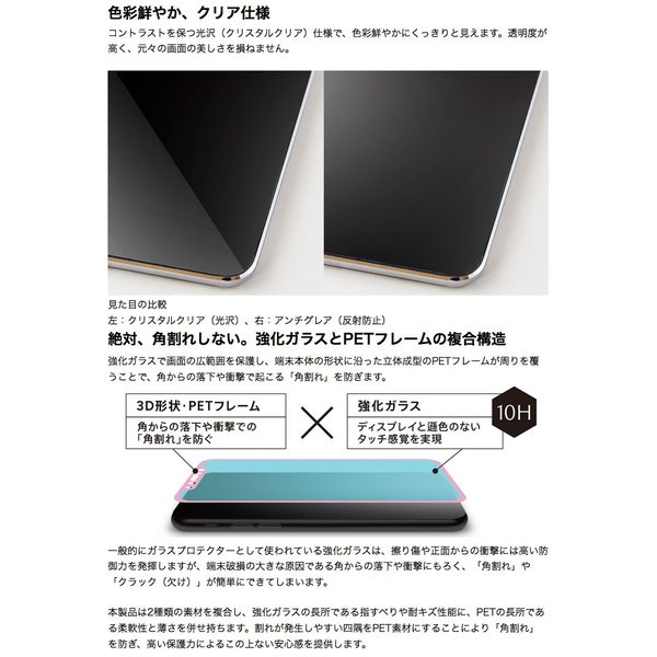 iPhone 11 / XR 保護フィルム Simplism iPhone 11 / XR  FLEX 3D  アルミノシリケート 複合フレームガラス 0.25mm シンプリズム ネコポス可|ec-kitcut|05