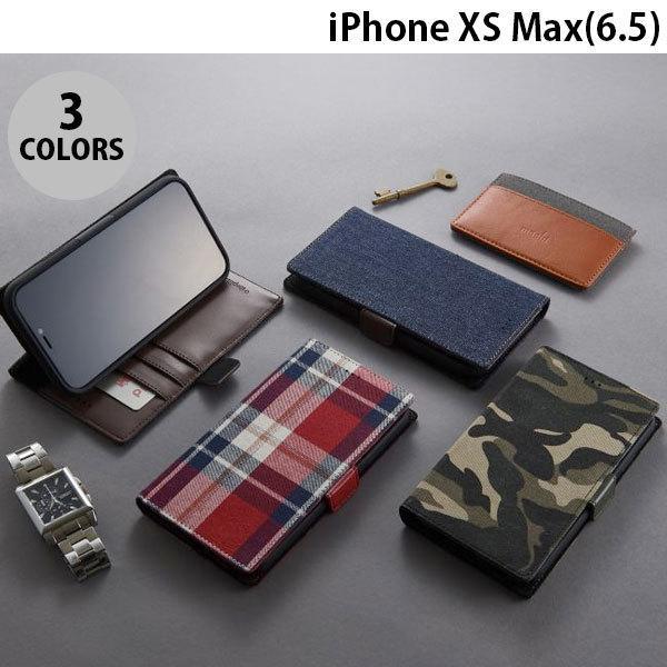 iPhoneXSMax ケース Simplism iPhone XS Max  FlipNote  フリップノートファブリックケース  シンプリズム ネコポス不可|ec-kitcut