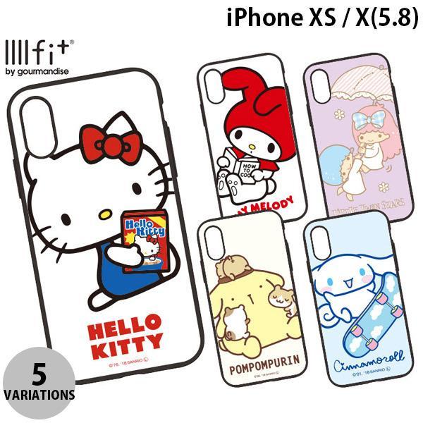 iPhoneXS / iPhoneX ケース gourmandise iPhone XS / X IIIIfi+ イーフィット サンリオ  グルマンディーズ ネコポス送料無料 ec-kitcut