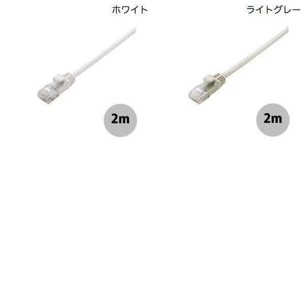 LANケーブル エレコム Gigabit やわらかLANケーブルCat6準拠 2m ネコポス可|ec-kitcut|03
