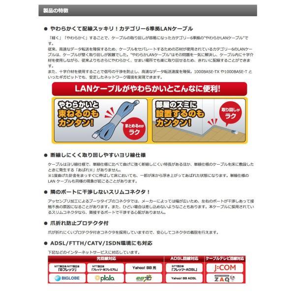 LANケーブル エレコム Gigabit やわらかLANケーブルCat6準拠 2m ネコポス可|ec-kitcut|04