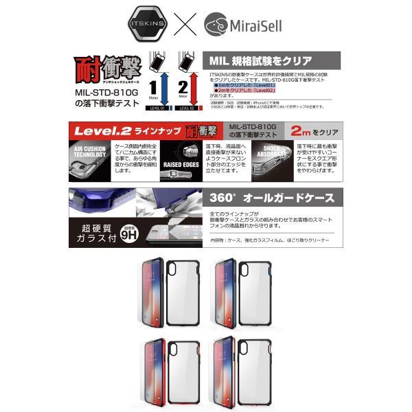 ITSKINS x MiraiSell イッキンズ ミライセル iPhone XS / X 耐衝撃ケース HYBRID EDGE 液晶保護ガラス付き ブラック MSIT-P858EBK ネコポス送料無料|ec-kitcut|03