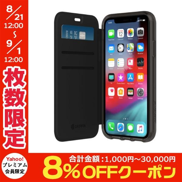 iPhoneXR ケース Griffin Technology グリフィンテクノロジー Survivor Clear Wallet for iPhone XR - Black/Clear GIP-016-BKC ネコポス送料無料|ec-kitcut
