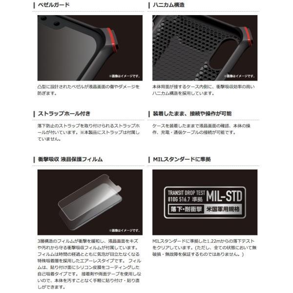 iPhoneXS / iPhoneX ケース エレコム ELECOM iPhone XS / X ZEROSHOCK 2wayカラビナ 衝撃吸収 液晶保護フィルム付 ブラック PM-A18BZEROKBK ネコポス不可|ec-kitcut|03
