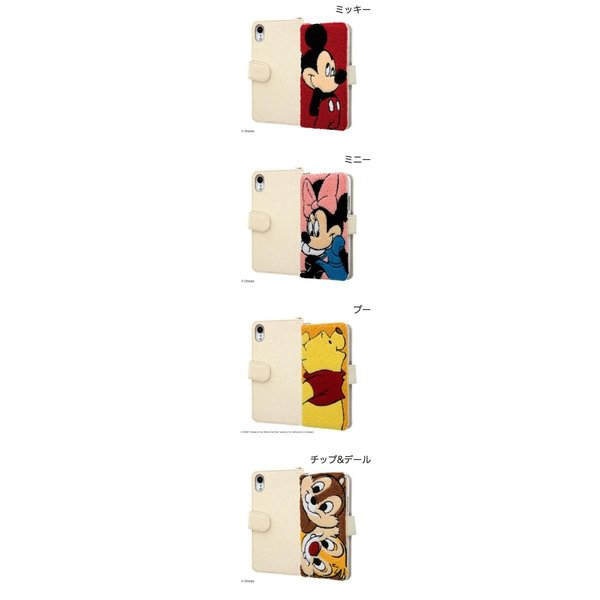iPhoneXR ケース ingrem iPhone XR ディズニー サガラ刺繍 帆布 手帳型ケース イングレム ネコポス不可|ec-kitcut|02