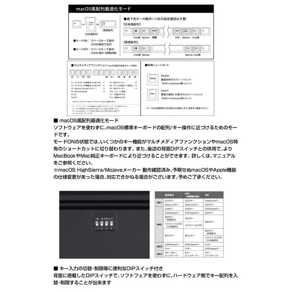 ARCHISS アーキス Maestro 2S メカニカル 省スペース キーボード 日本語配列 102キー CHERRY MX スイッチ 赤軸 昇華印字 黒/グレイ AS-KBM02/LRGBA ネコポス不可|ec-kitcut|09