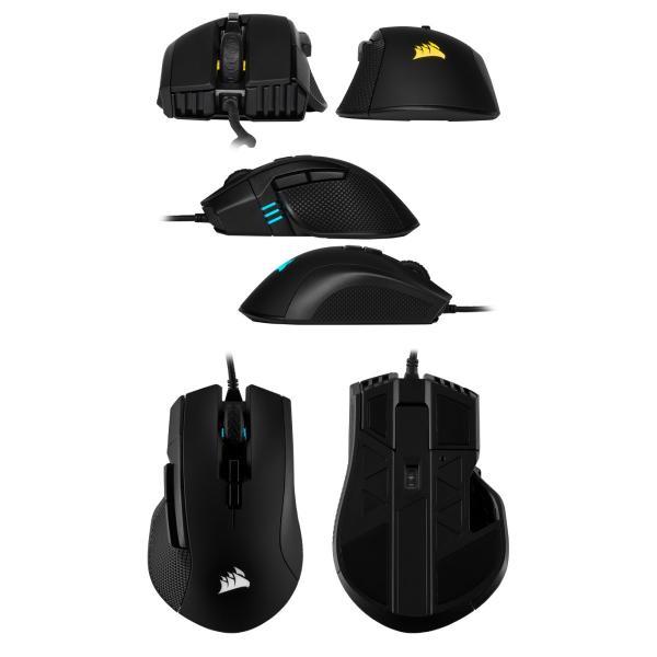 マウス Corsair コルセア IRONCLAW RGB バックライティング 対応 軽量 有線 ゲーミングマウス ブラック CH-9307011-AP ネコポス不可|ec-kitcut|03