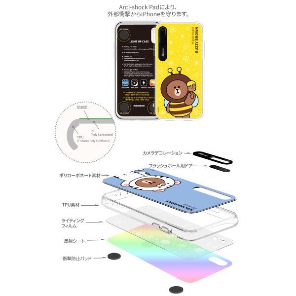 iPhoneXS / iPhoneX ケース LINE FRIENDS iPhone XS / X JUNGLE  LIGHT UP ラインフレンズ ネコポス送料無料|ec-kitcut|05