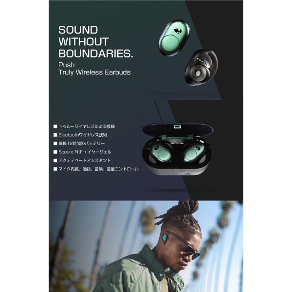 完全ワイヤレス イヤホン 独立 Skullcandy スカルキャンディー PUSH 完全ワイヤレス Bluetooth イヤホン Psycho Tropical Teal S2BBW-M714 ネコポス不可|ec-kitcut|02