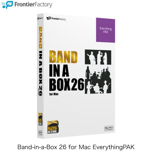 音楽ソフトパッケージ版 Frontier Factory フロンティアファクトリー株式会社 Band-in-a-Box 26 for Mac EverythingPAK PGBBQEM111 ネコポス不可|ec-kitcut