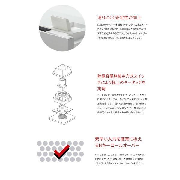東プレ REALFORCE for Mac R2-JPVM-BK 日本語配列 変荷重 114キー フルサイズキーボード 無接点スイッチ 有線 レーザー印字 シルバー/黒 トープレ ネコポス不可|ec-kitcut|04