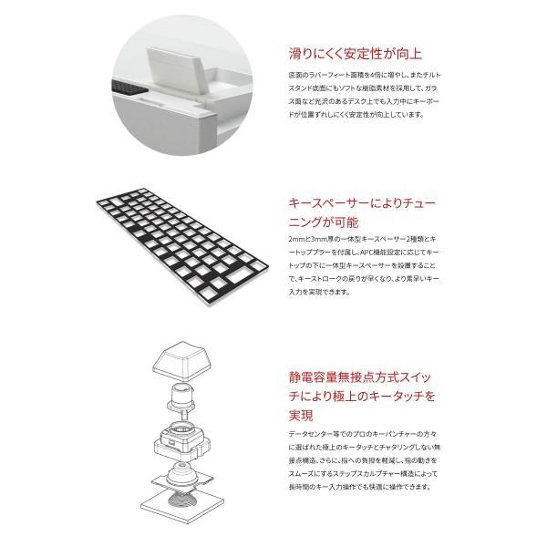 東プレ REALFORCE SA for Mac R2SA-JP3M-BK 日本語配列 等荷重 114キー 静音フルサイズキーボード 無接点スイッチ 有線 レーザー印字 シルバー/黒 ネコポス不可|ec-kitcut|05