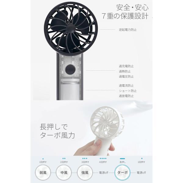 ハンディファン BLUEFEEL PRO 超小型ヘッド ポータブル扇風機 2,200mAh ブルーフィール ネコポス不可|ec-kitcut|08