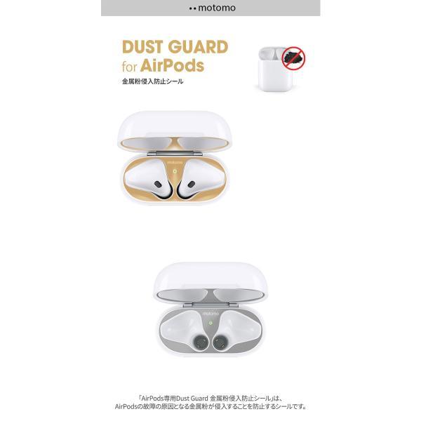 イヤホン・ヘッドホン motomo AirPods 第1世代 / 第2世代 両対応 Dust Guard 金属粉侵入防止シール  モトモ ネコポス可 ec-kitcut 03