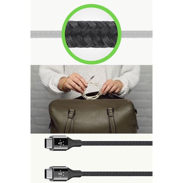 USB-C ケーブル BELKIN MIXIT UP DuraTek PREMIUM KEVLAR USB-C to USB-C ケーブル 1.2m  ベルキン ネコポス可 ec-kitcut 03