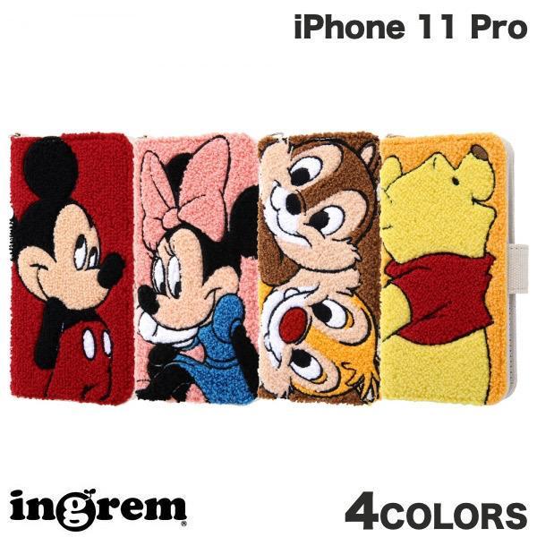 iPhone 11 Pro ケース ingrem iPhone 11 Pro ディズニーキャラクター 手帳型ケース サガラ刺繍  イングレム ネコポス不可 ec-kitcut
