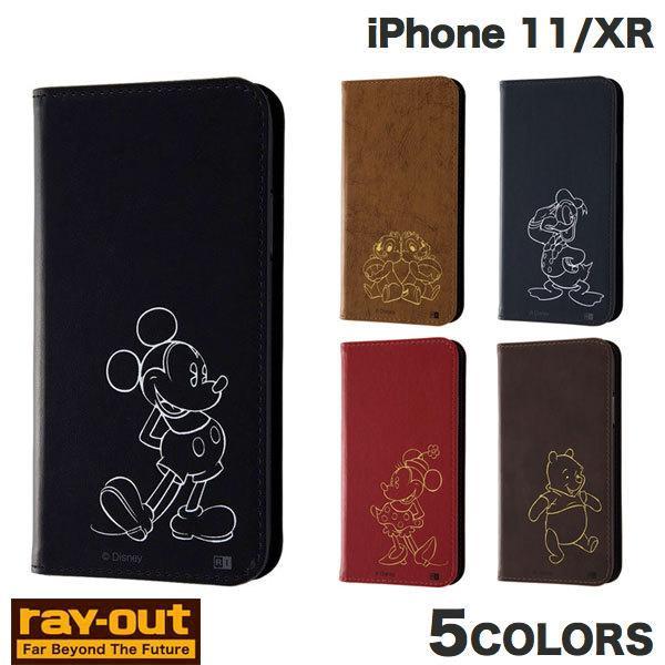 iPhone 11 / XR ケース Ray Out iPhone 11 / XRディズニーキャラクター 手帳型ホットスタンプ  レイアウト ネコポス送料無料|ec-kitcut