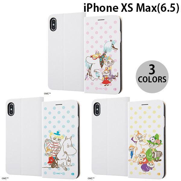 iPhoneXSMax ケース ingrem iPhone XS Max ムーミン 手帳型ケース マグネットタイプ みず玉  イングレム ネコポス不可|ec-kitcut