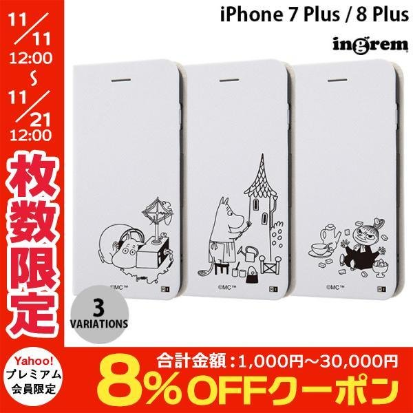 iPhone8Plus/ iPhone7Plus ケース ingrem iPhone 8 Plus / 7 Plus ムーミン 手帳型ケース マグネットタイプ  イングレム ネコポス不可|ec-kitcut
