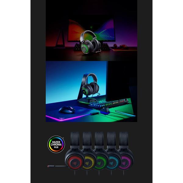 Razer レーザー Kraken Ultimate 7.1ch サラウンド 対応 USB ゲーミング ヘッドセット RZ04-03180100-R3M1 ネコポス不可 ec-kitcut 06